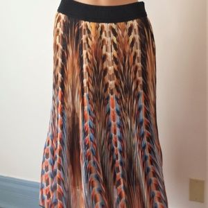 Studio West Apparel Boho Chic Flowy Midi Skirt